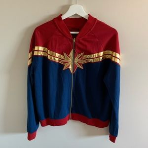 Disney Marvel Captain America Zip Up Sweater